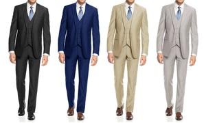 Braveman Men's Slim-Fit Solid Suits (3-Piece)