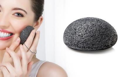 Éponges Konjac au charbon et au bambou pour le visage