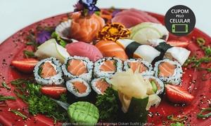 Gokan Sushi Lounge - Moinhos: Use o Código BLACK17 no carrinho e pague apenas R$ 55,92 em sequência livre com sushi, sashimi, gunkan e mais