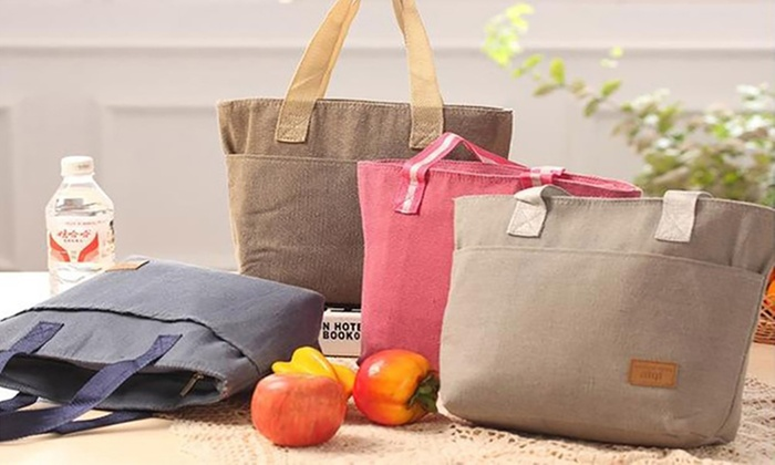 UDS Global - NZ: Canvas Thermal Lunch Bag: One ($9.95) or Two ($18)