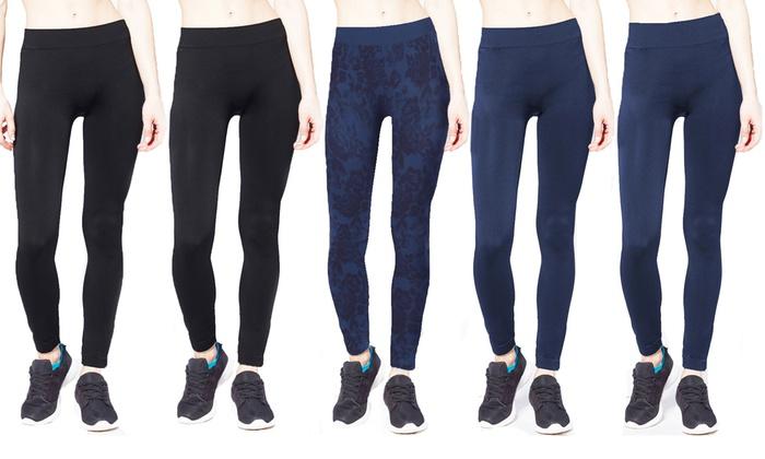 Women's Seamless Leggings (5-Pack)