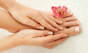 Salon LaLa...: Up to 53% Off Sea Salt Scrub Spa Mani/Pedis at Salon LaLa