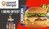 Bon de réduction chez Speed Burger