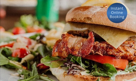 Burger with Chips & Soft Drink Each: 1 $9, 2 $18 or 4 Ppl $37 at 107 Coffee Terminal Capalaba Up to $99.20 Value