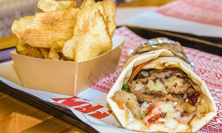 Kebab sardo, patatine e birra a 10,90€euro