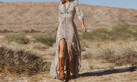 1 of 2 boheemsestijl lange jurken