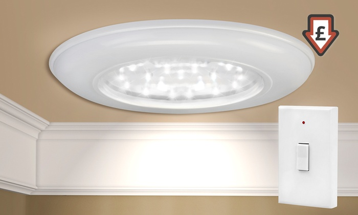 Cordless ceiling and wall light groupon goods cordless ceiling and wall light aloadofball Images