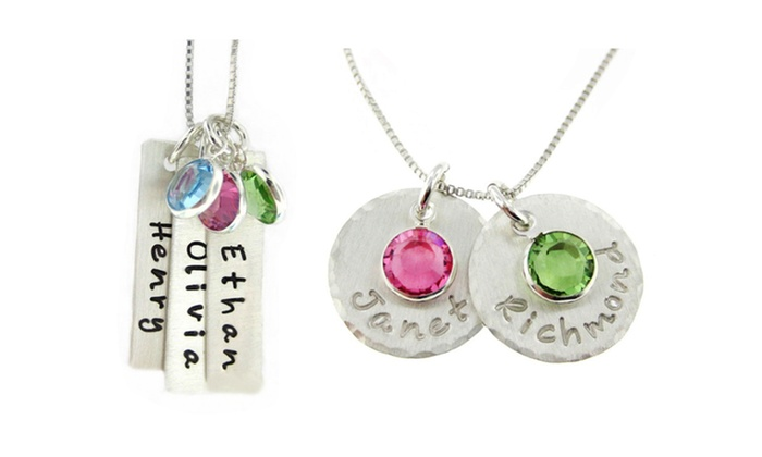 JC Jewelry Design: Personalized Mom Necklaces from JC Jewelry Design (Up to 55% Off). Three Options Available.