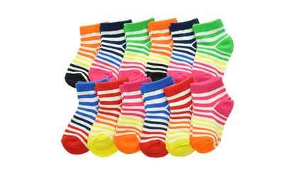 7da6955d4f Shop Groupon Angelina Women's Cotton Blend Low-Cut Essential Socks  (12-Pairs)