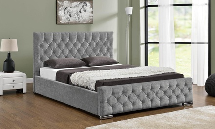 Chenille or Velvet Ottoman Bed with Optional Mattress With Free...