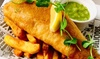 Fish and Chips with Wine for Two