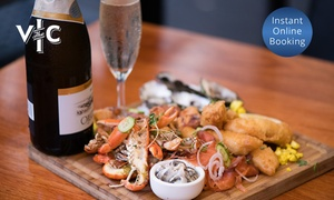 The Vic: Seafood Platter and Bottle of Oyster Bay Sparkling Wine for Two ($49) or Four People ($95) at The Vic (Up to $214 Val)