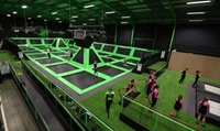Two-HourTrampolineSessionforOne($15),Two($28)orFourPeople($55)atFlipOut,Warrawong(Upto$104Value)