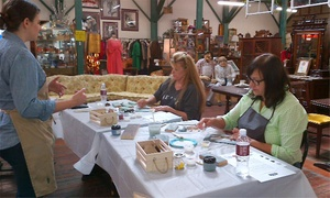 King Richard's Antique Center: Two-Hour Chalk + Clay Painting Class for One or Two at King Richard's Antique Center (52% Off)
