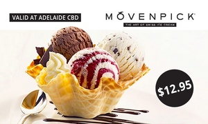 Mövenpick Adelaide CBD Boutique: $12.95 for Two Ice Cream Tasting Baskets at Mövenpick, Adelaide CBD (Up to $26 Value)