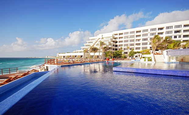 TripAlertz wants you to check out ✈ 5-Night All-Inclusive Grand Oasis Sens Stay with Air. Price/Person Based on Double Occupancy (Buy 1 Groupon/Person).  ✈ All-Inclusive Cancun Vacation with Airfare from Travel by Jen - All-Inclusive Cancun Vacation