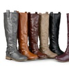 Journee Collection Women's Ankle-Strap Knee-High Riding Boots