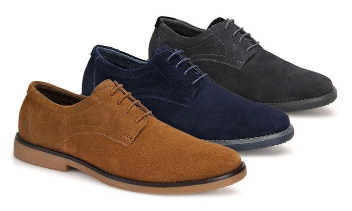 Men's Casual Suede Derby Shoes
