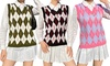 Women's Argyle Vest Top