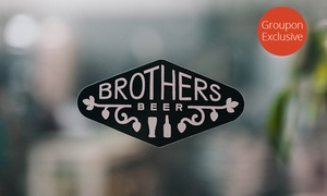 Brothers Beer: Pizzas with Craft Beer Paddles for Two ($49), Four ($89) or Six People ($129) at Brothers Beer, CBD (Up to $252 Value)