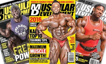 22 off on muscular development magazine groupon goods