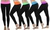 Women's Slimming Fold-Over Waist Leggings (3-Pack): Women's Slimming Fold-Over Waist Leggings (3-Pack)