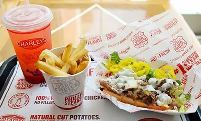 Sub with Fries and Soft Drink for One, Two or Four at Charley's Philly Steaks - Bay Square (39% Off)