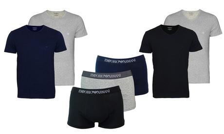 1 o 2 packs de 2 camisetas o boxers hombre Armani