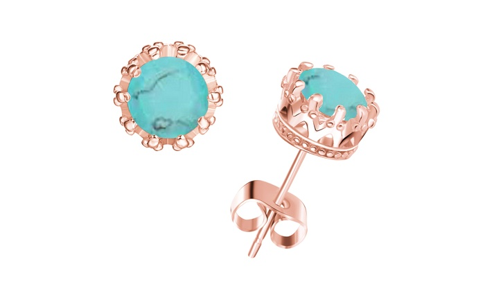 or turquoise in jewellery earrings venice genuine studs jovon en silver stud dangle