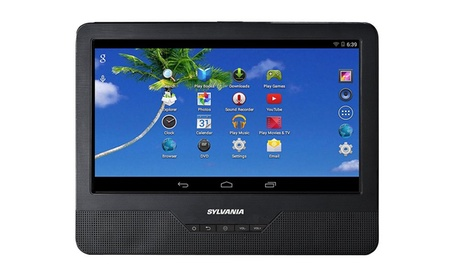 "Sylvania 9"" Portable DVD Player and Android Tablet (Refurbished)"