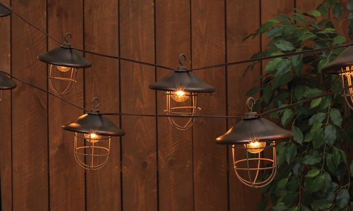 Solar And Electric Patio Lights