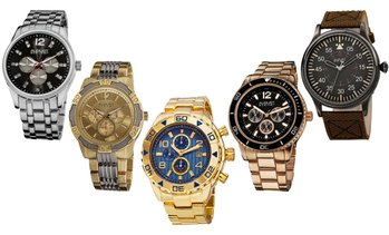 Blowout August Steiner Multi-Function, Chronograph, or Classic Watch