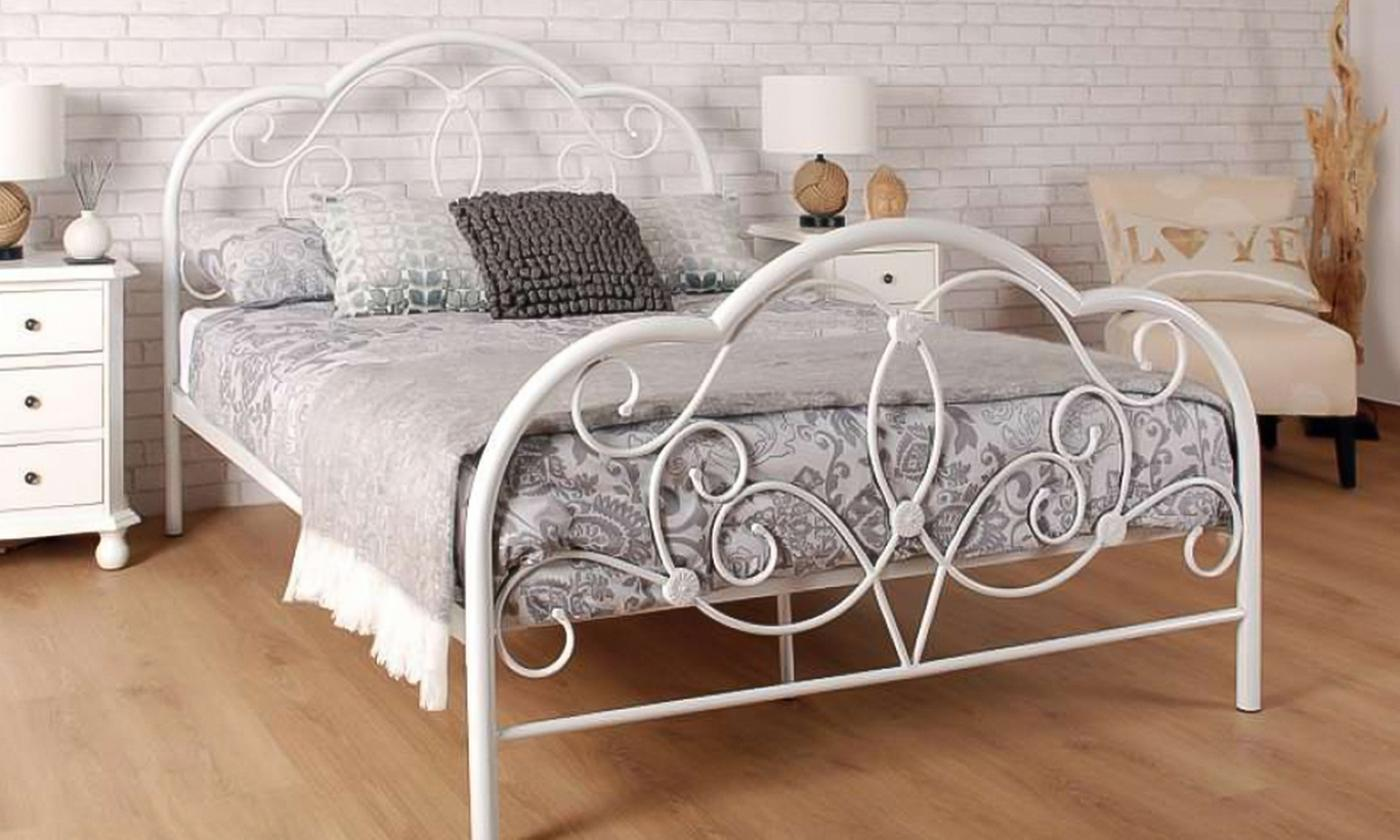 Sleep Softly Versailles Metal Bedframe with Optional Mattress from £110 (76% OFF)
