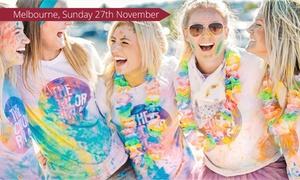 The Color Run - Melbourne: The Color Run™ Tropicolor World Tour: Entry with Tropi Kit for $50 (Plus Booking Fee), Sun 27 Nov, Flemington Racecourse