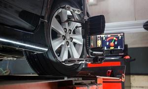Saloto Neumáticos: $299 en vez de $600 por alineación + balanceo + chequeo de frenos y amortiguadores en Saloto Neumáticos