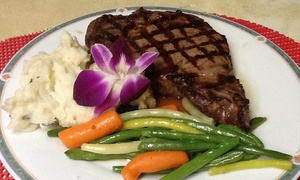 Seafood and Steak Dinner for Two or Four at The Tributary Restaurant in Winsted (Up to 42% Off)