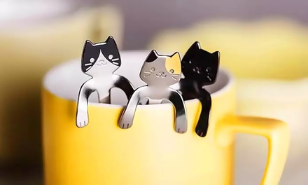 Four, Six or Eight Stainless Steel Cat Spoons