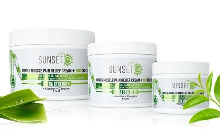 Sunset CBD Relief Cream with Menthol, Tea Tree & Aloe Vera (250mg, 500mg or 1000mg)