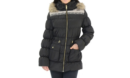 Women's Tribal-Print Puffer Coat
