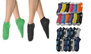 Angelina Women's Cotton Blend Low-Cut Essential Socks (12-Pairs)