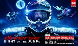 Diverse Night of the Jumps: Od 69 zł: bilet na Diverse Night of The Jumps – Freestyle Motocross i FMB World Tour w TAURON Arena Kraków (do -30%)