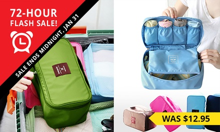 $11 for Shoe or Underwear Travel Organiser or $16.95 for Both