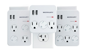 Merkury Innovations 3.1A Surge Protector Wall Plates with USB Ports
