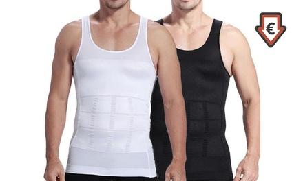 1 of 2 afslankshirts voor mannen in kleur en maat naar keuze