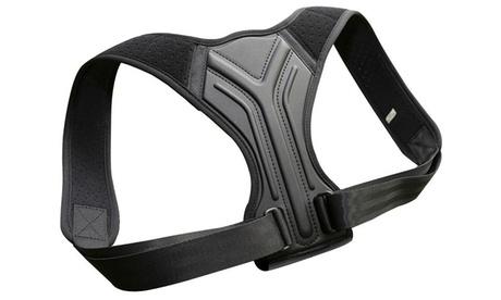 Verstellbarer Unisex-Rücken-Geradehalter in Schwarz in der Größe nach Wahl