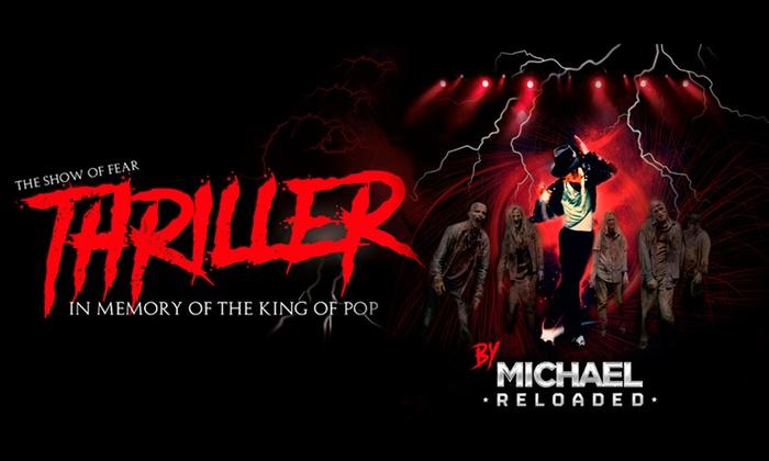 """Senda Producciones - La Cubierta: 1 entrada a """"THRILLER"""". In memory of the King of Pop- Grada en La Cubierta de Leganés por 8,95 € con Senda Producciones"""