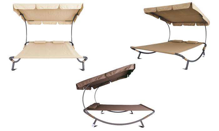 doppel sonnenliege inkl kissen groupon goods. Black Bedroom Furniture Sets. Home Design Ideas