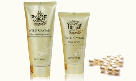 Crema limpiadora y sérum facial con caviar salvaje de Cougar Beauty