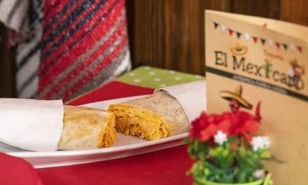 Menú con entrantes, tacos, burritos, postre y cerveza en Taquería El Mexicano Campello (hasta 54%de descuento)