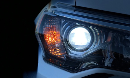 LED-Headlight and Optional Fog-Light Installation at King Car Audio (Up to 55% Off)